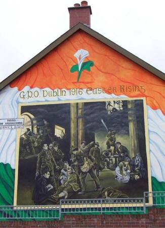 Saint columba sometimes known as st for Easter rising mural